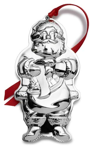 Wallace 2019 Sterling Santa Ornament-3rd Edition Holiday Ornament Metal