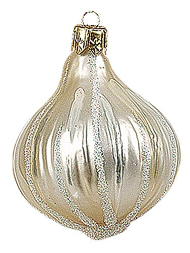 Pinnacle Peak Trading Company Mini Garlic Polish Mouth Blown Glass Christmas Ornament Tree Decoration