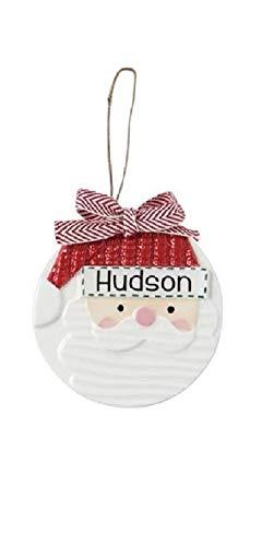 Mud Pie Santa Claus Personalizable Ceramic Hanging Ornament