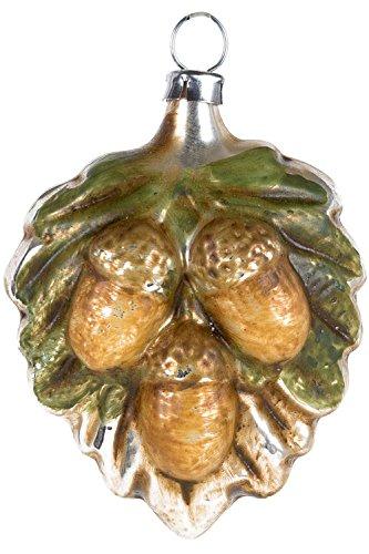 Marolin Oak Leaf with Acorns MA2011079 German Glass Ornament w/Gift Box