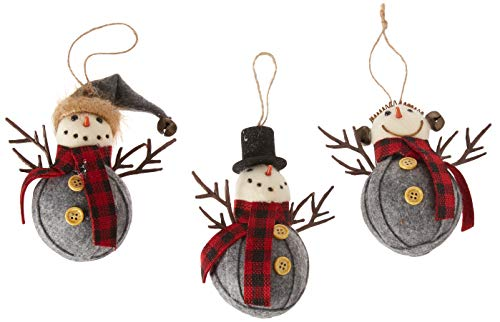 Department 56 Christmas Basics Red Scarf Snowman, 4″ Hanging Ornament, Multicolor