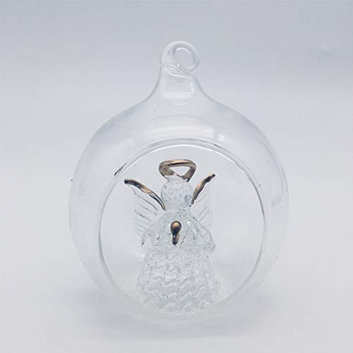 Angel Classical Christmas Ornaments Home Decor 2.46-Inch Diameter Transparent Glass Christmas Ball