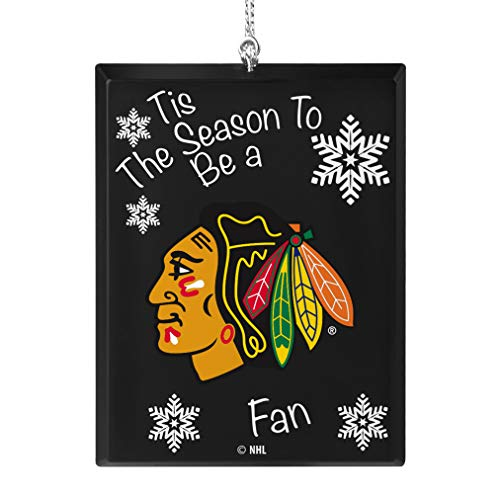 Topperscot Chicago Blackhawks Official NHL Tis The Season Holiday Christmas Sign Ornament 675176