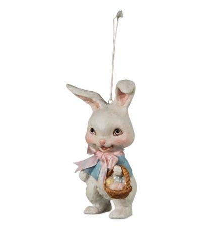 Bethany Lowe Retro Easter Bunny Ornament with Glitter Accents