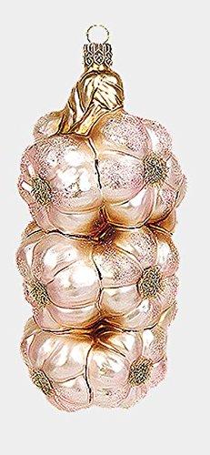 Pinnacle Peak Trading Company Bunch of Garlic Polish Mouth Blown Glass Christmas Ornament Tree Decoration