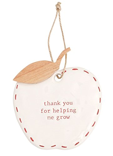 Mud Pie TEACHER CERAMIC APPLE ORNAMENT