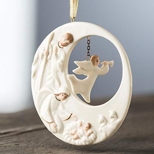 Belleek Nativity Angel Ornament