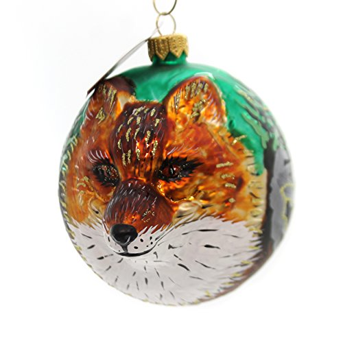 Christina's World Crazy Like A Fox Glass Ornament Mammal Animal Zoo843