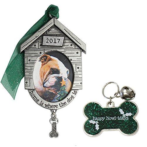 Gloria Duchin 2pc Dog Ornament and Pet Tag Set