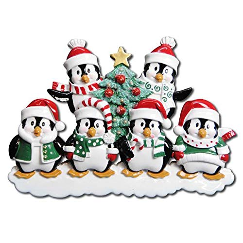 Polar X Winter Penguin Family 6 Personalized Christmas Ornament (Family Series)