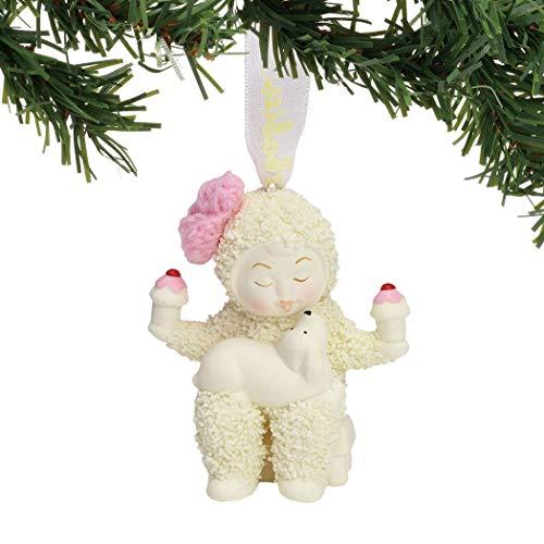 "Department 56 Snowbabies ""Balanced Diet"" Porcelain Hanging Ornament, 2.5"""