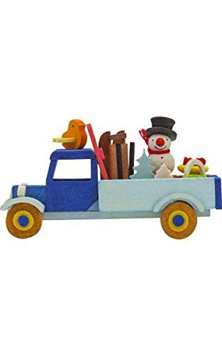 Alexander Taron 4781 Graupner Ornament-Truck with Snowman and Sled H x 3″ W x 1.5″ D, Gray