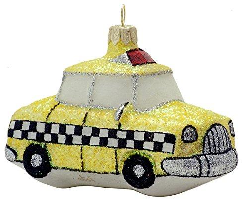 Landmark Creations New York City Taxi European Glass Christmas Ornament