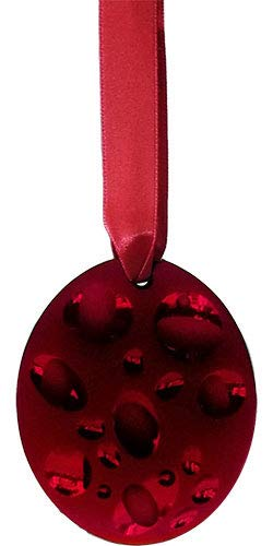 Lalique Crystal 2007 ICY Bubble Annual Ornament – Red