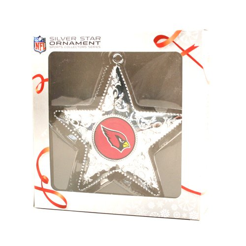 Topperscot Arizona Cardinals Silver Star Ornament