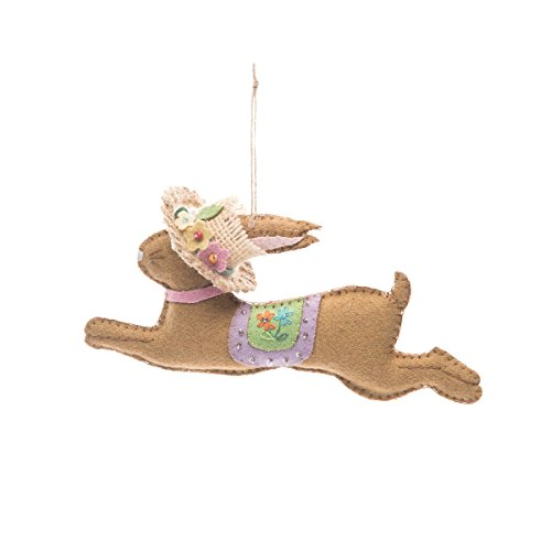 GALLERIE II Spring Penny Lane Leaping Easter Bunny Rabbit Ornament Decor Bunny with Hat
