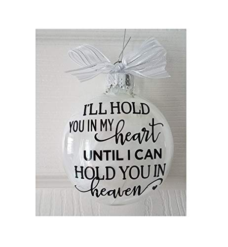 Personalized Memorial Gift Ornament – Great gift for her to remember a loved one that has gone too soon. Miscarriage or infant loss memorial. Fast Shipping