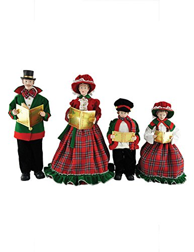 Santa's Workshop 3150 Christmas Day Carolers Figurine, Set of 4, 15″ x 18″