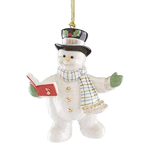 2018 Snowy Song Snowman Ornament by Lenox