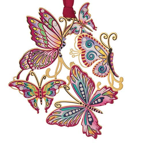 Beacon Design Springtime Butterfly Collage Ornament