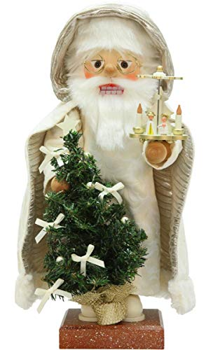 Alexander Taron 0-813 Christian Ulbricht Nutcracker-Santa with Pyramid-21.5″ H x 11.25″ W x 10.25″ D, Brown