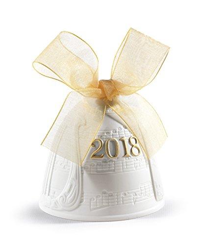 Lladro 2018 Christmas Bell Golden Lustre Re-Deco