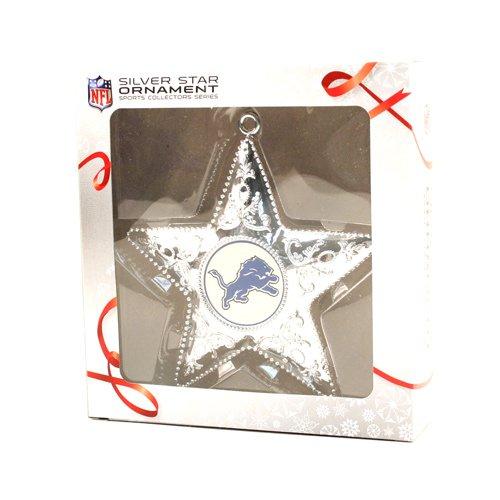 Topperscot Detroit Lions Silver Star Ornament