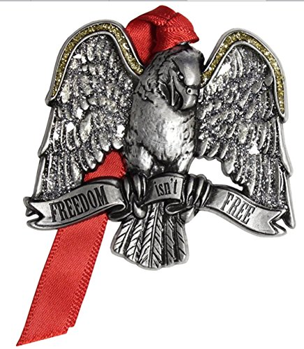 FREEDOM ISNT FREE Eagle Patriotic Pewter Ornament