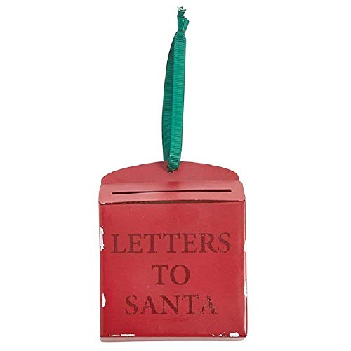 Mud Pie Letters to Santa Hanging Mailbox Ornament