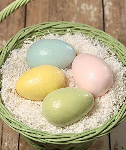 Bethany Lowe Large Pastel Easter Egg Ornament- Set of 4 Colors- 4″ Size