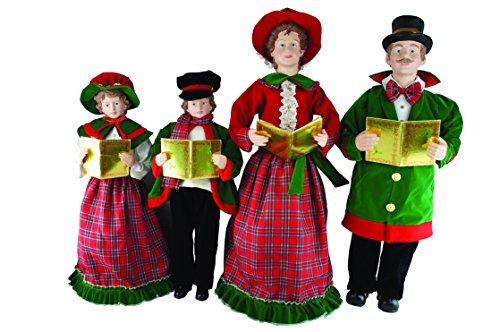 Santa's Workshop 3154 Christmas Day Carolers Figurine, Set of 4, 27″ x 37″