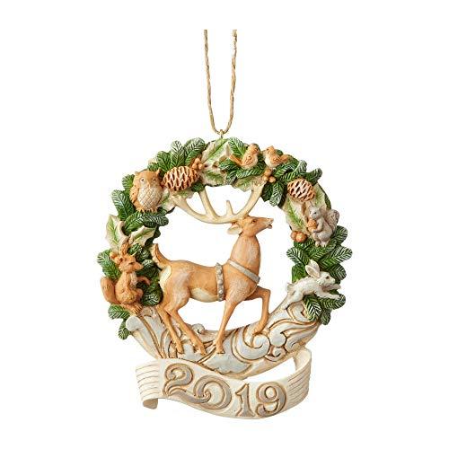 Enesco Jim Shore Heartwood Creek Woodland 2019 Deer/Wreath Ornament