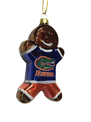 Florida Gators 3.25″ Blown Glass Gingerbread Man Ornament