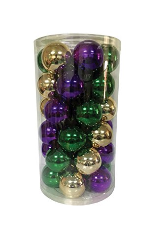 Santa's Workshop 19002 Shatter Proof Ball Ornaments in 3 Assorted Colors, 60mm, Multicolored