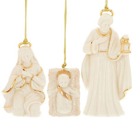 Lenox Porcelain 3-Piece Holy Family Figurine Ornaments