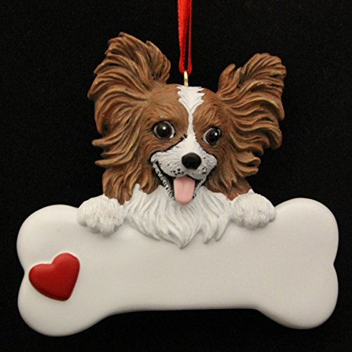Rudolph and Me Papillion Personalized Ornament