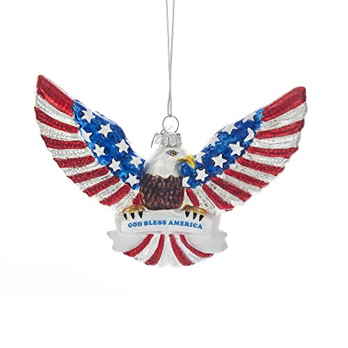 Kurt Adler Noble Gems Patriotic Eagle Ornament