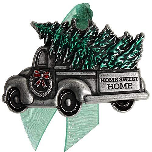 Gloria Duchin Pewter Retro Antique Truck Christmas Ornament, Multicolor