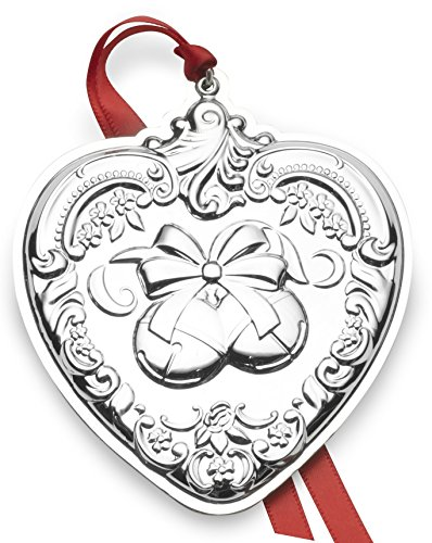 Wallace 2018 Grand Baroque Heart Sterling Silver Christmas Holiday Ornament, 27th Edition,