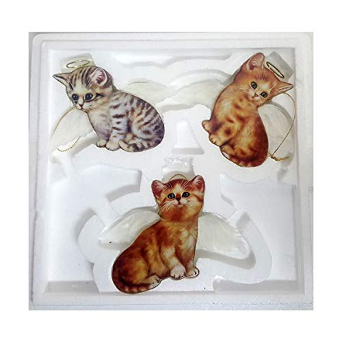 Bradford Exchange Purr-FECT Little Angel Cat Ornaments by Jurgen Scholz 68498