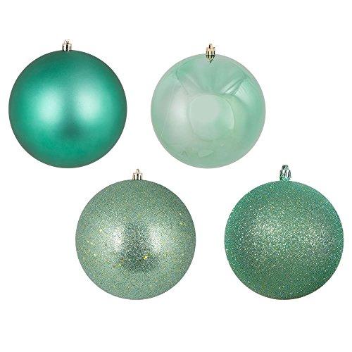 Vickerman N591244A Ball Ornaments, 4.75″, Seafoam