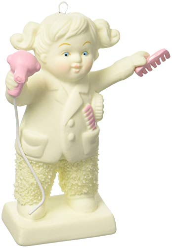 "Department 56 Snowbabies ""Stylist"" Porcelain Hanging Ornament, 3.25"""
