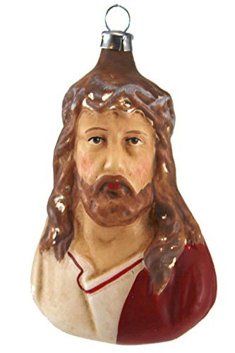 Marolin Jesus Christ MA2011031 German Glass Ornament w/Gift Box