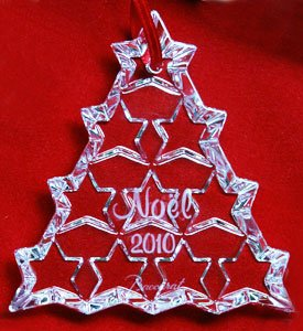 Baccarat Crystal 2010 Annual Christmas Ornament
