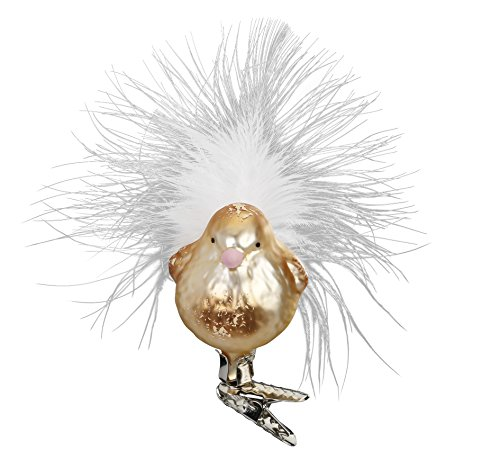 Inge-Glas Clip-On Bird Candy 10208S018 German Glass Christmas Ornament