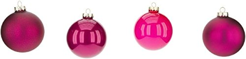 Mark Roberts Boxed Set of Four Christmas Ball Ornaments Buyer (Fuschia/Hot Pink)