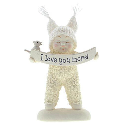 "Department 56 Snowbabies ""I Love You More"" Porcelain Figurine, 4.5"""