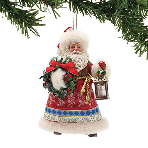 Department 56 Possible Dreams Santas Jim Shore Limited Edition Hanging Ornament, 6″, Multicolor