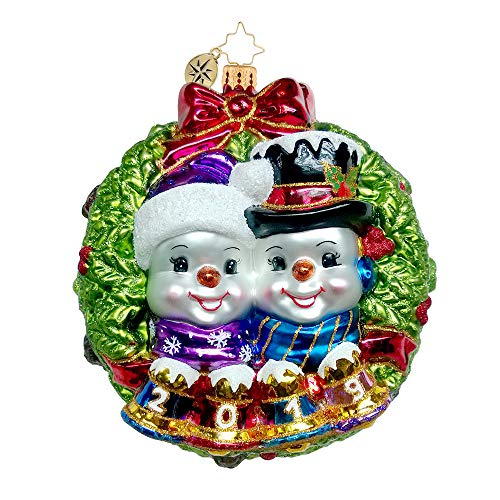 Christopher Radko Perfect Couple 2019 Dated Christmas Ornament