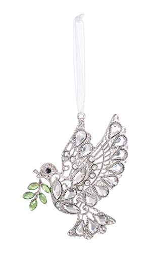 Ganz Peaceful Dove Leaves Hanging Ornament